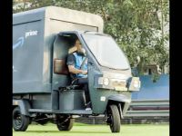 Amazon India electric rickshaw delivery